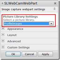 SharePoint 2010 Live Image Capturing WebPart packaged as a Sandbox solution (2/6)