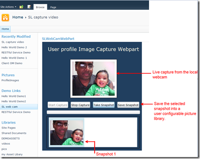SharePoint 2010 Live Image Capturing WebPart packaged as a Sandbox solution (1/6)